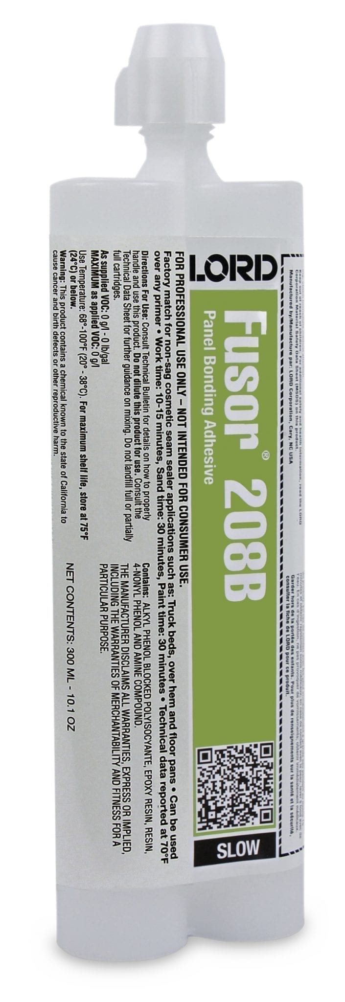 Lord Fusor 208b Slow Panel Bonding Adhesive 300ml