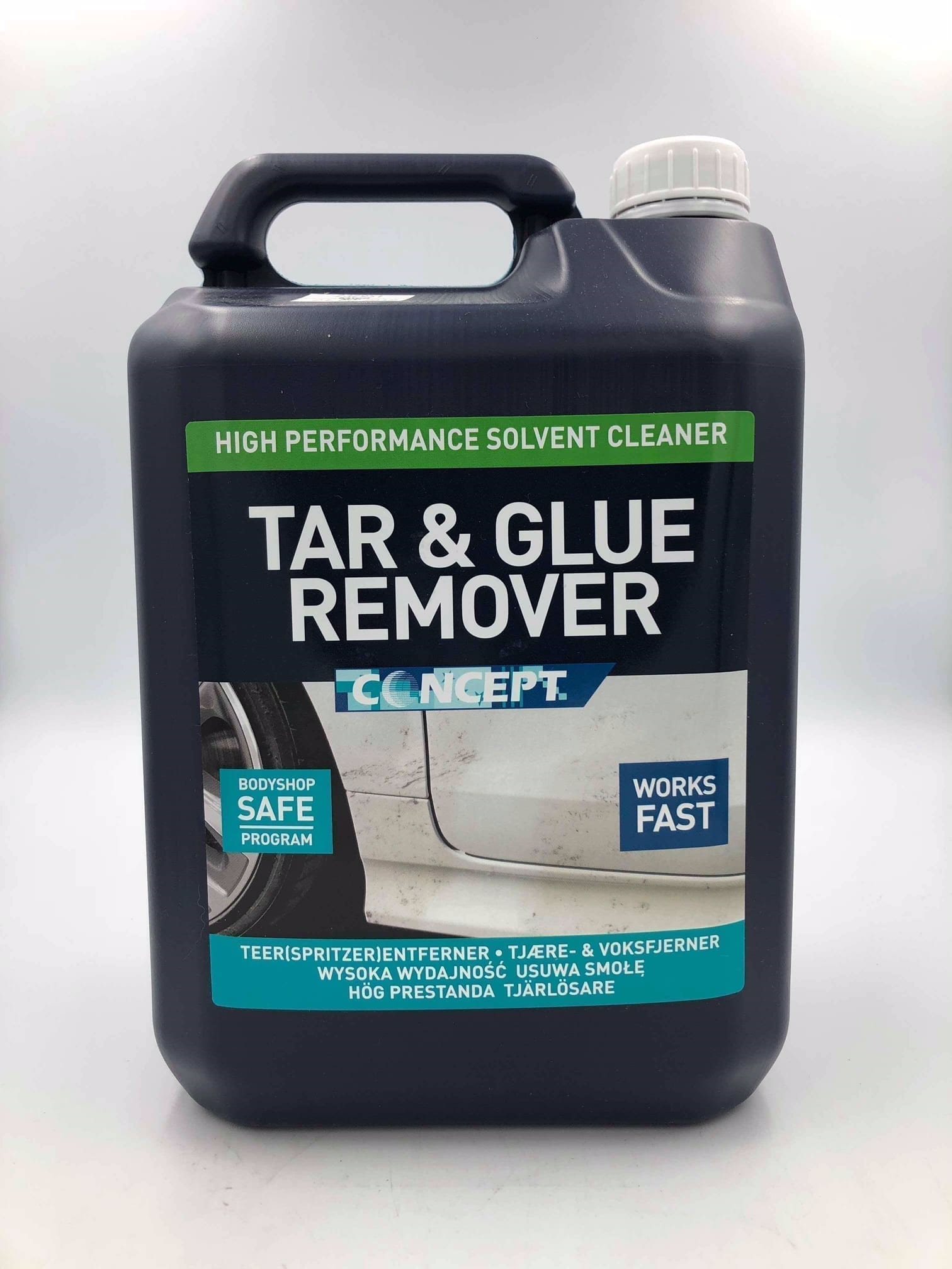 First Aid Wheels >> Concept Tar & Glue Remover 5L | Valeting Supplies | Refinish Systems Limited