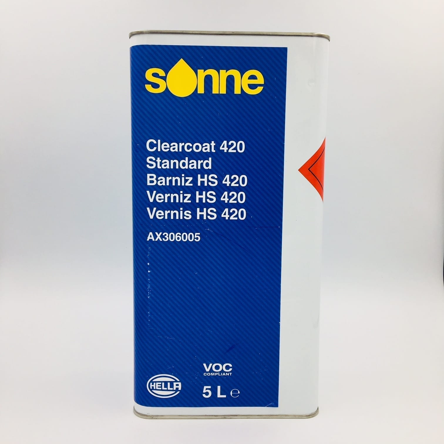 Sonne 420 Standard Uhs Clear Lacquer 5l Car 2k Clear Lacquers